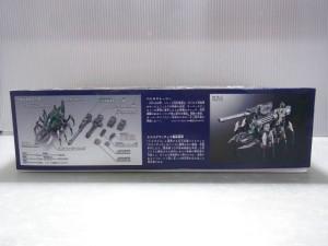 ゾイドの外箱の側面。テクニカルデータとして、各部の名称や、バトルストーリーなどが書かれている。