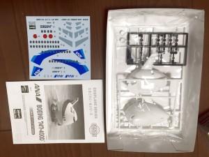 たまごひこーき ハセガワ ANA 747-400D 60505の部品展開