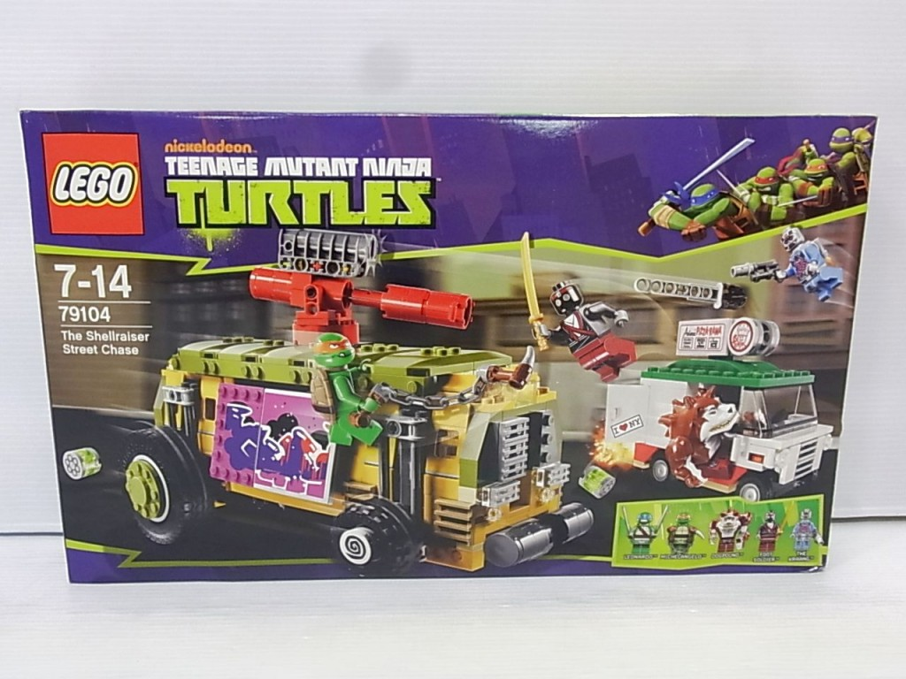 LEGO 79104 The Shellraiser Street Chaseの箱画像。組立後の様子など躍動感のある表紙。