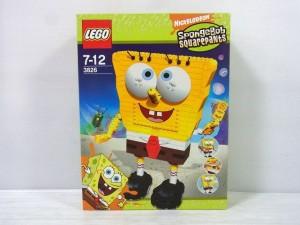 LEGO スポンジボブ 3826の箱画像。キャラクターの大きなイラストが描かれている。