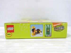 LEGO 3826 スポンジボブの箱の側面。品番が書かれている。
