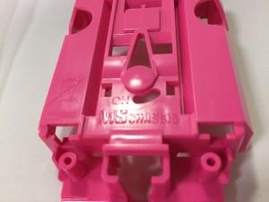 ピンク色のMSシャシ