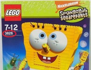 レゴ 3826の箱のアップ画像。品番が大きく写っている。