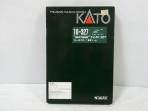 KATO 10-327 eurostar 8 car setの箱。白い文字や赤い三角のロゴが見える。