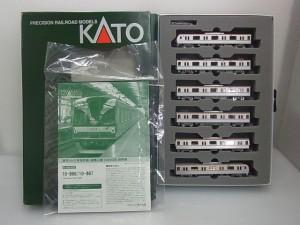 カトー 10-866 有楽町線・副都心線 6両基本セットの展開画像。車体や説明書が写っている。
