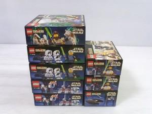 LEGO|レゴ|SYSTEM|STAR WARS|スターウォーズの箱画像。表紙にはロゴや写真が写っている。