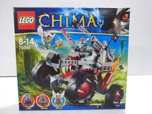 LEGO CHIMA 70004 ワックズの パックトラッカーの箱画像。キャラクターが写っている。