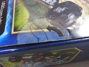 レゴ チーマの箱の切り取り部分。