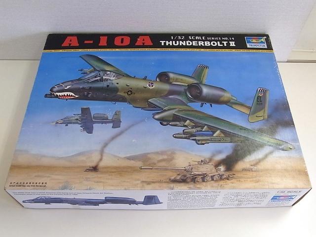 トランペッター製のプラモデル、A-10AサンダーボルトⅡの箱です。