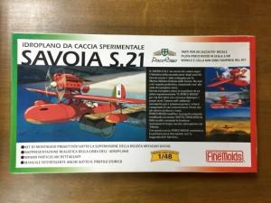紅の豚   1/48 サボイヤS.21試作戦闘飛行艇 ファインモールド プラモデル箱