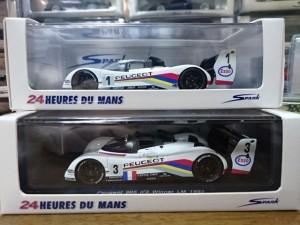 スパーク ル・マン プジョー 905 優勝車
