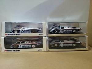 スパーク  1/43 ポルシェ 962C ル・マン 優勝車 4台
