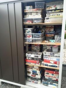埼玉県自動車プラモデル出張買取にて物置に模型達が02