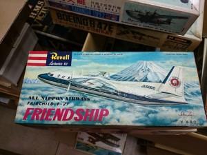 マルサン レベル ラベール 全日空 F-27 FRIENDSHIP