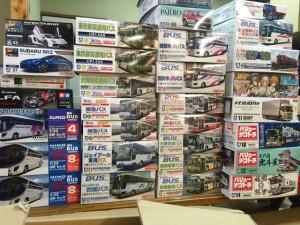 アオシマ フジミ 1/32 セレガ JR東海 都営バス エアロクイーンなどプラモ多数宅配にて買い取りました