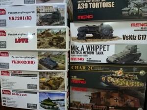 Amusing、MENG 1/35 戦車キット    プラモまとめて買取しています