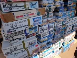 航空機 プラモデル 買取 ハセガワ、タミヤ、レベル、トランペッター   お売りください