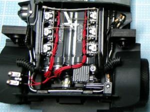 フジミ模型 1/24 エンスージアストモデル ランボルギーニ・カウンタック 製作指南 エンジン ディテールアップ