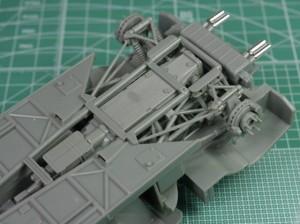 フジミ模型 1/24 エンスージアストモデル ランボルギーニ・カウンタック 製作指南 リアサス シャーシ