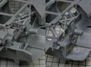 フジミ模型 1/24 エンスージアストモデル ランボルギーニ・カウンタック 製作指南 リアサス調整 前後