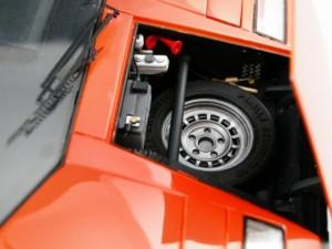 フジミ模型 1/24 エンスージアストモデル ランボルギーニ・カウンタック 製作指南 作例 フロント トランクフード