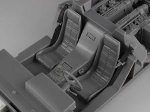フジミ模型 1/24 エンスージアストモデル ランボルギーニ・カウンタック 製作指南 インテリア