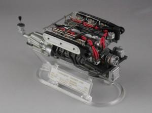 フジミ模型 1/24 エンスージアストモデル ランボルギーニ・カウンタック 製作指南 作例 エンジン ディスプレイ