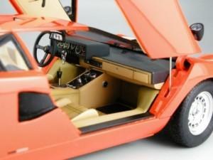 フジミ模型 1/24 エンスージアストモデル ランボルギーニ・カウンタック 製作指南 作例 インテリア