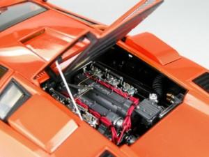 フジミ模型 1/24 エンスージアストモデル ランボルギーニ・カウンタック 製作指南 作例 リア エンジン周り