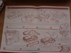 オオタキ 1/24 BMW 3.5 CSL モーターライズ 説明書  組立
