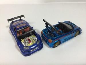 マッスルマシンスポコン ミニカー スープラ 80 、MR-S