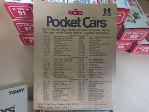 トミカ Poket Cars ポケットカーズ  輸出仕様 海外向け パッケージ