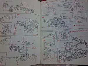 ポケール 1/8 フェラーリ F40 リバロッシ  組立 説明書2