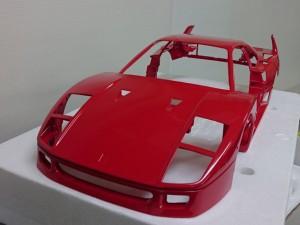 ポケール 1/8 フェラーリ F40 リバロッシ  メタル ボディパーツ1