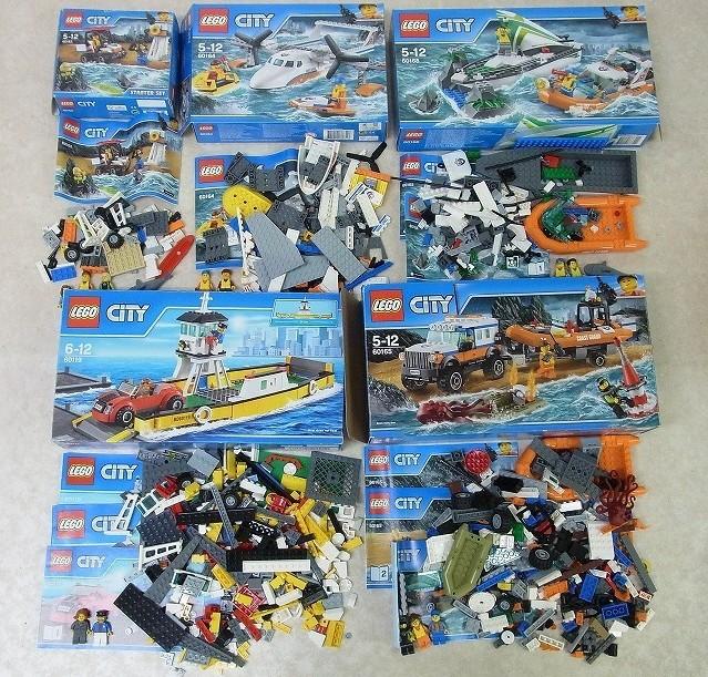 レゴ シティ 60168 海上レスキューボート/60119 フェリー/60165 4WDキャリアー/60164 海上レスキュー飛行機等