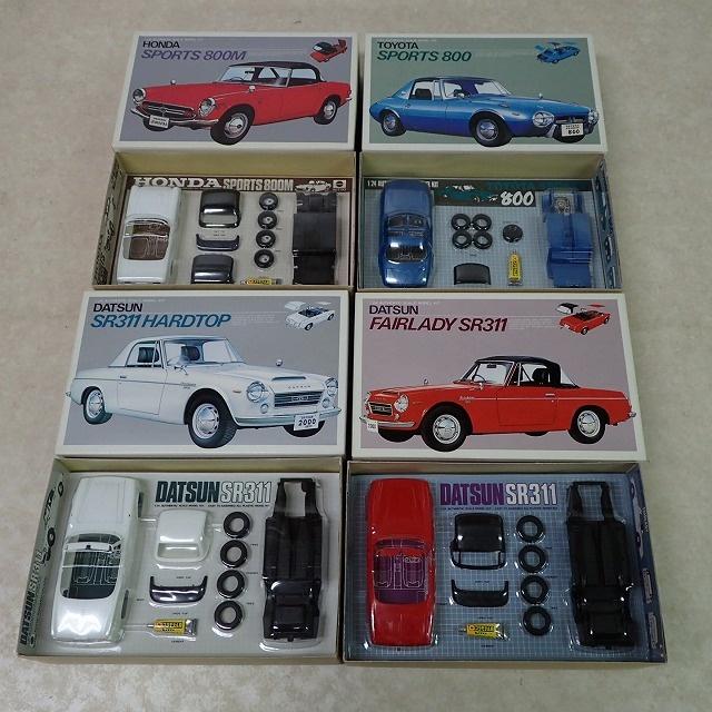 ニットー 1/24 ホンダスポーツ 800M、ダットサンSR311 ハードトップ、トヨタ スポーツ800、ダットサン フェアレディ SR311 中身