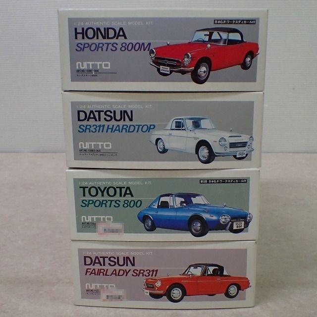 ニットー 1/24 ホンダスポーツ 800M、ダットサンSR311 ハードトップ、トヨタ スポーツ800、ダットサン フェアレディ SR311