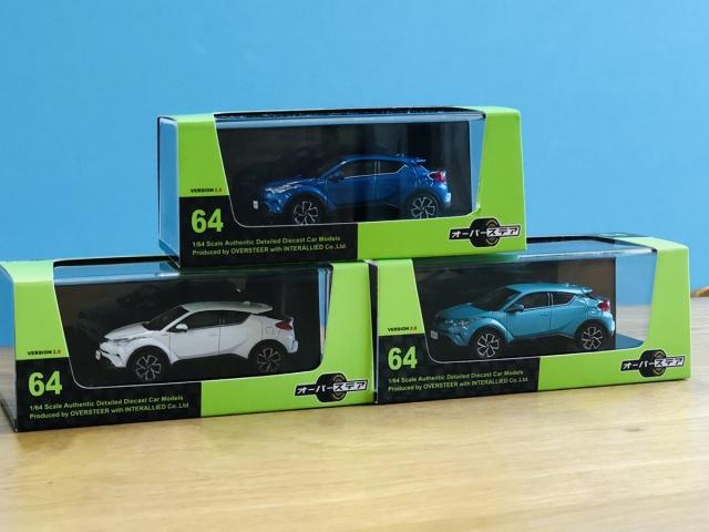 インターアライド オーバーステア Toyota C-HR ホワイトパール クリスタルシャイン、ラディアントグリーンメタリック、ブルーメタリック