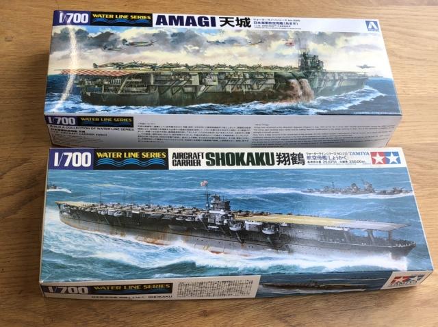 1/700ウォーターラインシリーズの翔鶴と天城