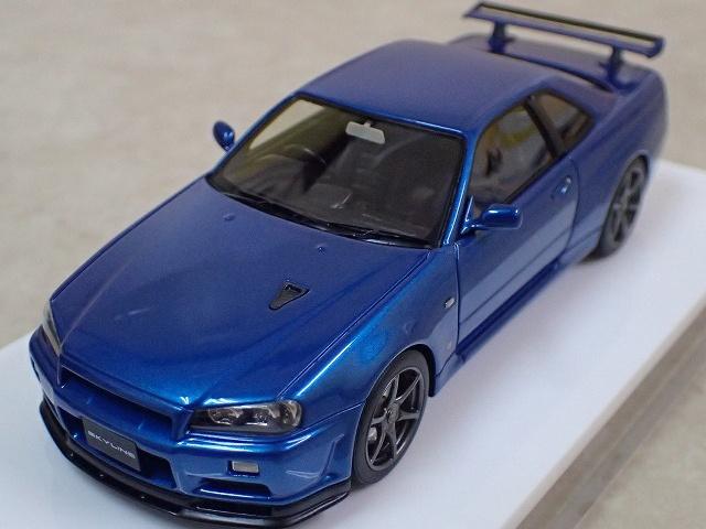 デアゴスティーニとメイクアップのコラボモデルミニカー ニッサン スカイライン GT-R V・specⅡ 2000 (BNR34)