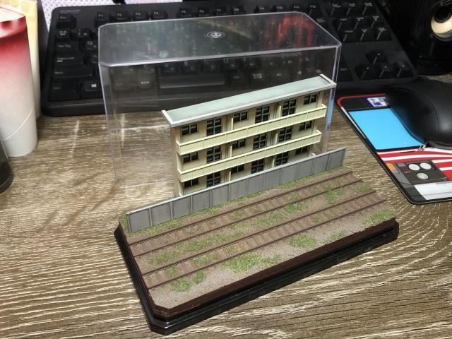 建物部分をベースにしてジオラマ完成