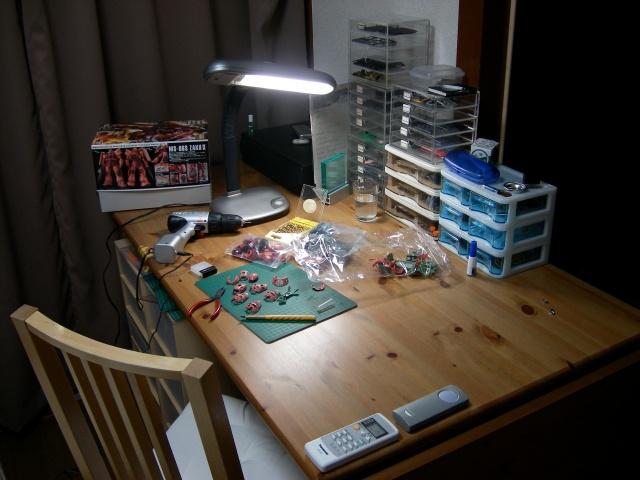 退職して模型を再開した当時の自分の部屋