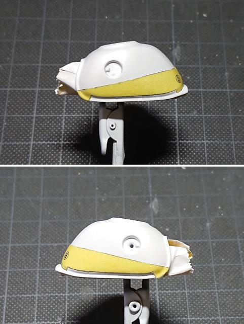 タミヤ モンキー125 専用のマスキングテープを貼る