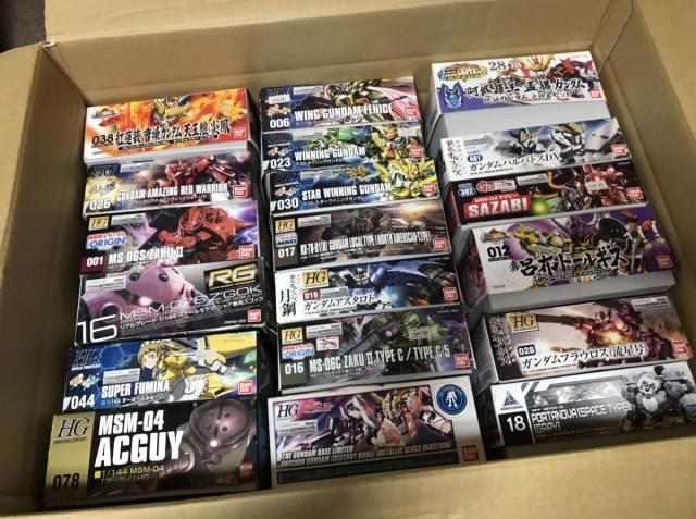 【宅配買取】ガンプラ RG 1/144 サザビー、量産型ザクなどを岩手県一関市よりお売りいただきました