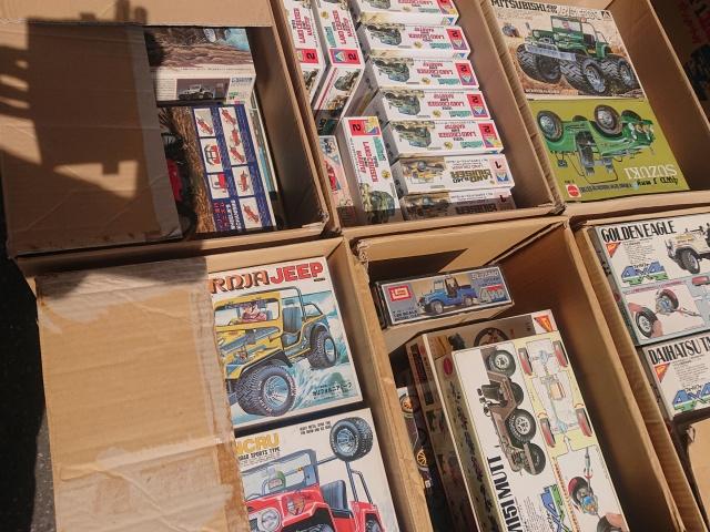 【出張買取】コミックジープデコ野郎、スパイクランクル、水陸両用ランドクルーザーなど四駆関連のプラモ多数を和歌山県海南市の方よりお譲りいただきました