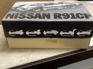 タミヤ ニッサン R91CP (58109)  中箱のサイドに印刷されたイラスト