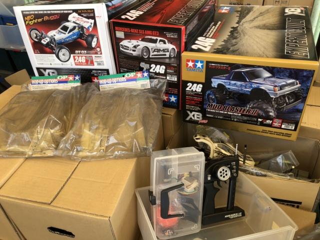 【出張買取】タミヤ 1/24RC XB ヘビーダンプ、1/10XB ネオマイティフロッグなどラジコンカー多数を兵庫県姫路市の方よりお売りいただきました