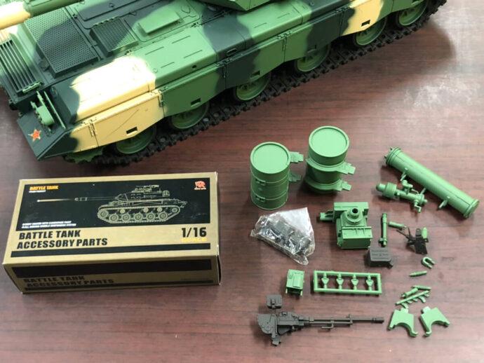 ラジコン戦車 ヘンロン ZTZ 99 MBT パーツ